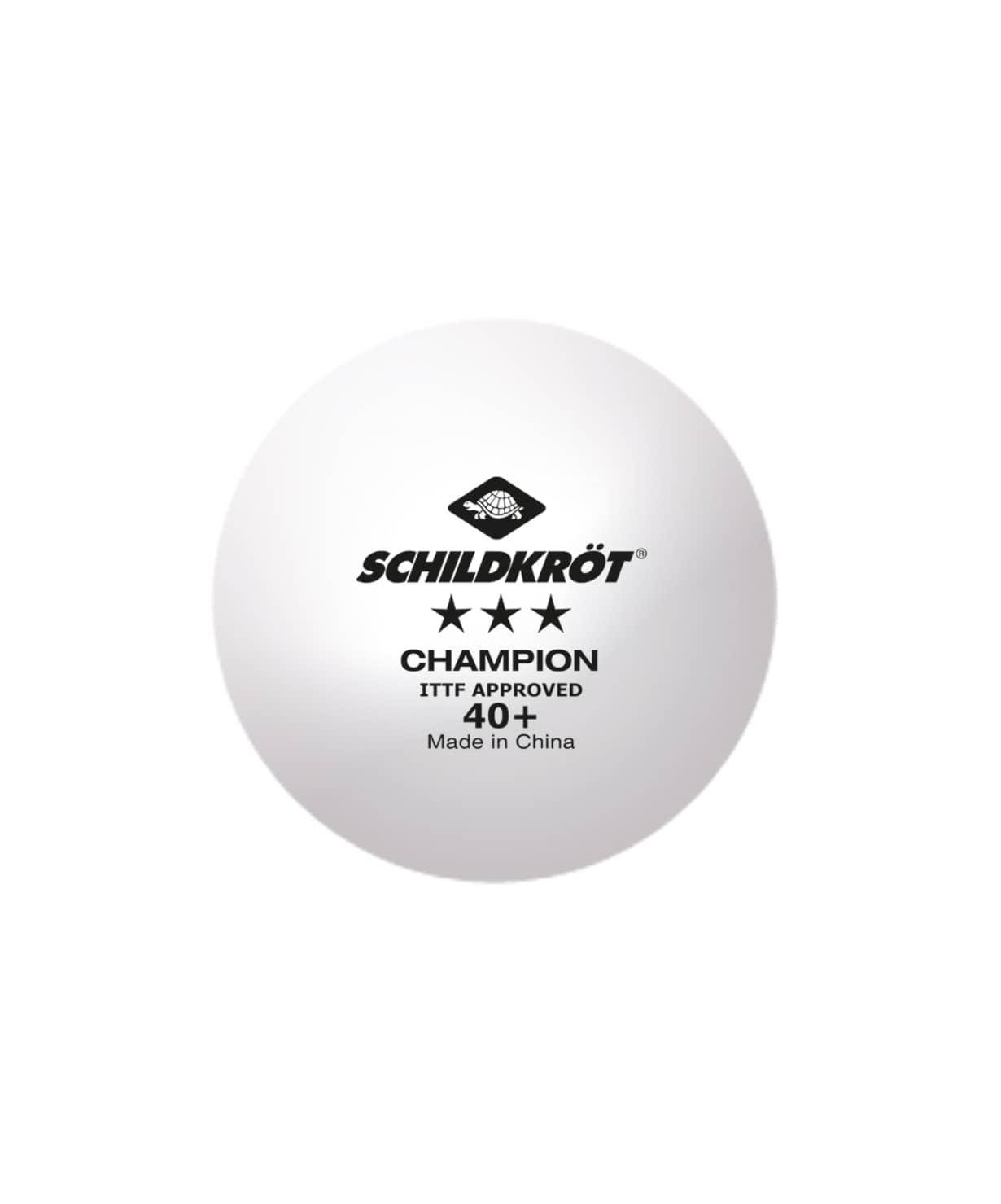 Мяч для настольного тенниса 3* Champion ITTF, белый, 3 шт.