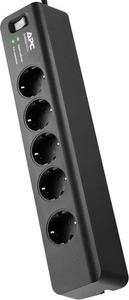 Сетевой фильтр APC PM5B-RS 1.83м (5 розеток) черный (коробка)