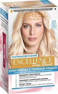 Крем-краска для волос Excellence 01 Суперосветляющий русый натуральный L'Oreal Paris