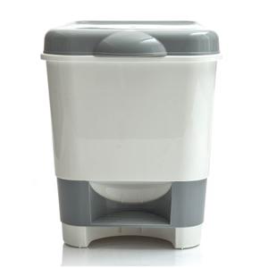 Ведро-контейнер для мусора (урна) OfficeClean, 20л, с педалью, пластик, серое