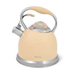 5961 Чайник для кипячения воды Fissman FELICITY 2,6л, цвет КОФЕЙНЫЙ (нерж.сталь)