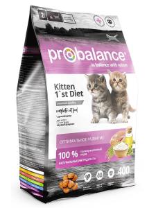 Сухой корм ProBalance 1'st Diet Корм для котят с цыпленком 400 г. (8 шт. в уп.)