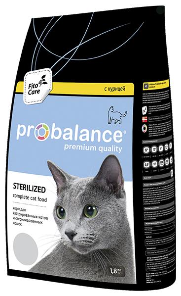 """Сухой корм для кошек ProBalance """"Sterilized"""" для стерилизованных кошек и кастрированных котов 1.8 кг"""