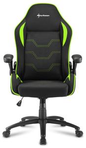 Кресло игровое Sharkoon Elbrus 1 зеленый