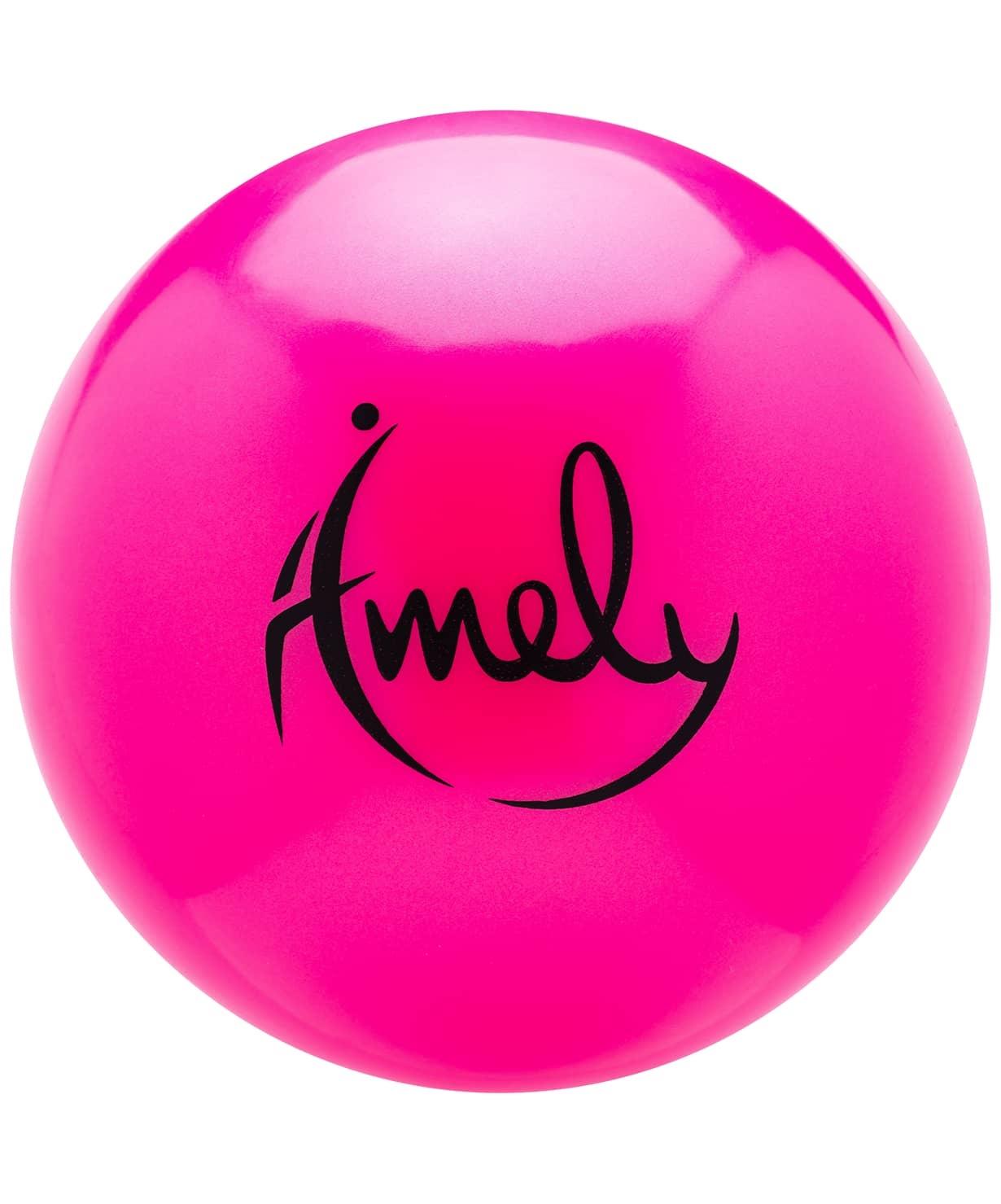 Мяч для художественной гимнастики AGB-301 19 см, розовый