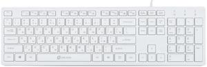 Клавиатура проводная Oklick 500M белый
