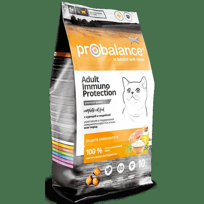 """Сухой корм для кошек ProBalance """"Immuno Protection"""" с курицей и индейкой 10 кг"""