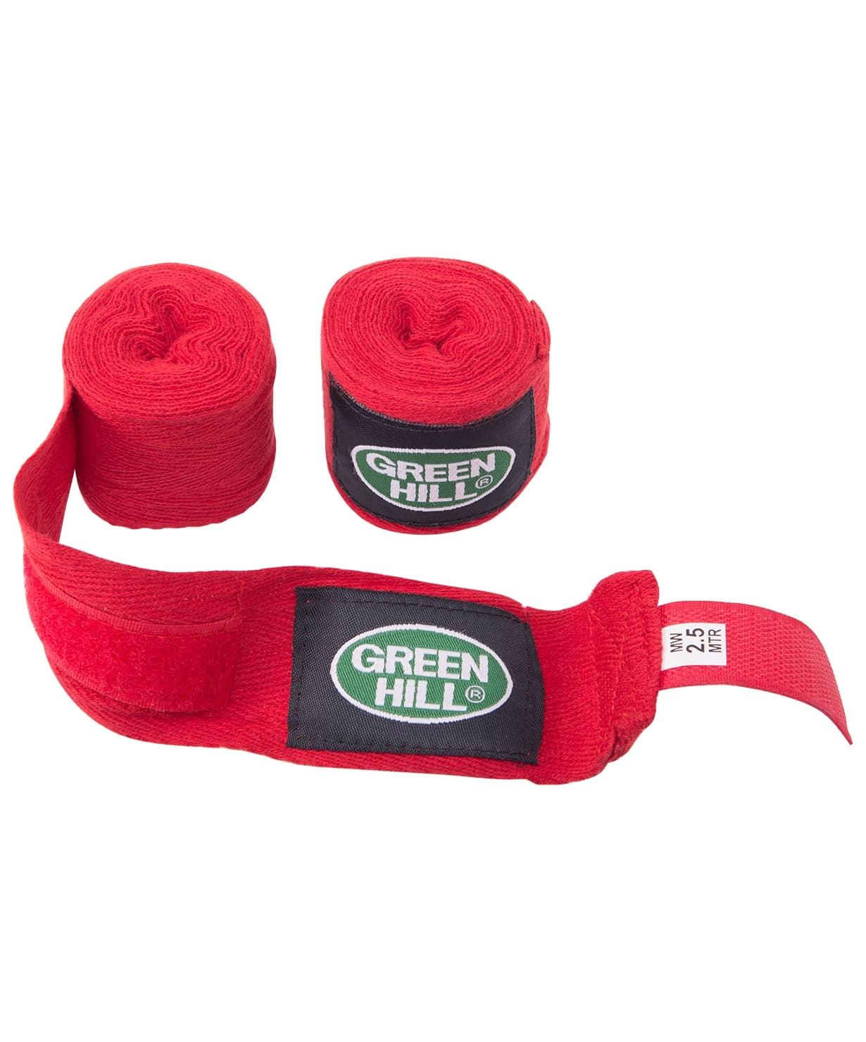 Бинт боксерский BC-6235a, 2,5м, х/б, красный