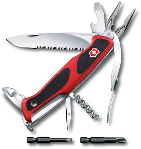Нож перочинный Victorinox RangerGrip 174 Handyman (0.9728.WC) 130мм 17функц. красный/черный карт.коробка