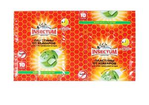 Пластинки от комаров для электрофумигатора для всей семьи Insectum Laboratory