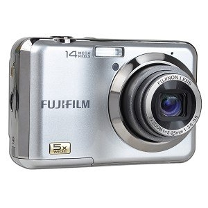 """Фотоаппарат FujiFilm FinePix AV200 серебристый 14Mp 3x 2.7"""" 720p SDHC AA - б/у, после ремонта"""