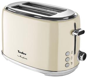 Тостер TESLER TT-255 бежевый