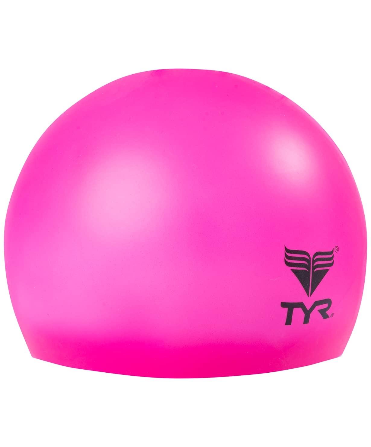 Шапочка для плавания Wrinkle Free Junior Silicone Cap, силикон, LCSJR/693, розовый