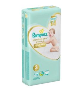 Подгузники-трусики Premium Care Pants Midi (6-11 кг) Упаковка 48 PAMPERS