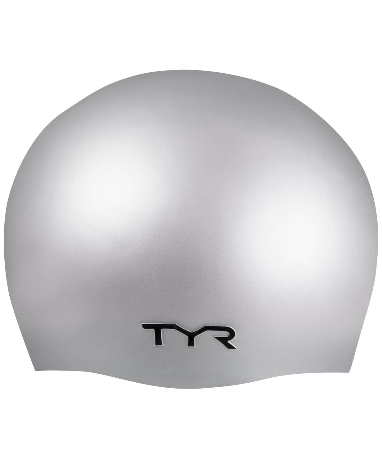 Шапочка для плавания Wrinkle Free Silicone Cap, силикон, LCS/040, серебристый