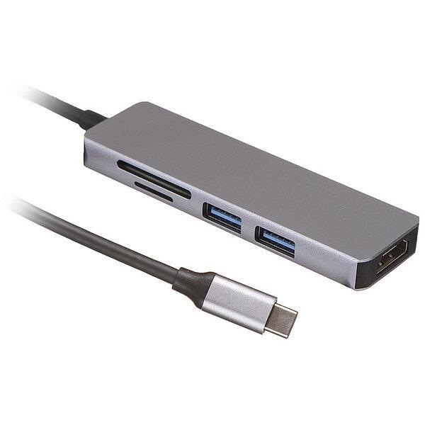 Разветвитель USB Palmexx 5в1 USB-C - HDMI+2xUSB 3.0+CR PX/HUB-005