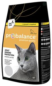 """Сухой корм для кошек ProBalance """"Immuno Protection"""" с курицей и индейкой 1.8 кг"""