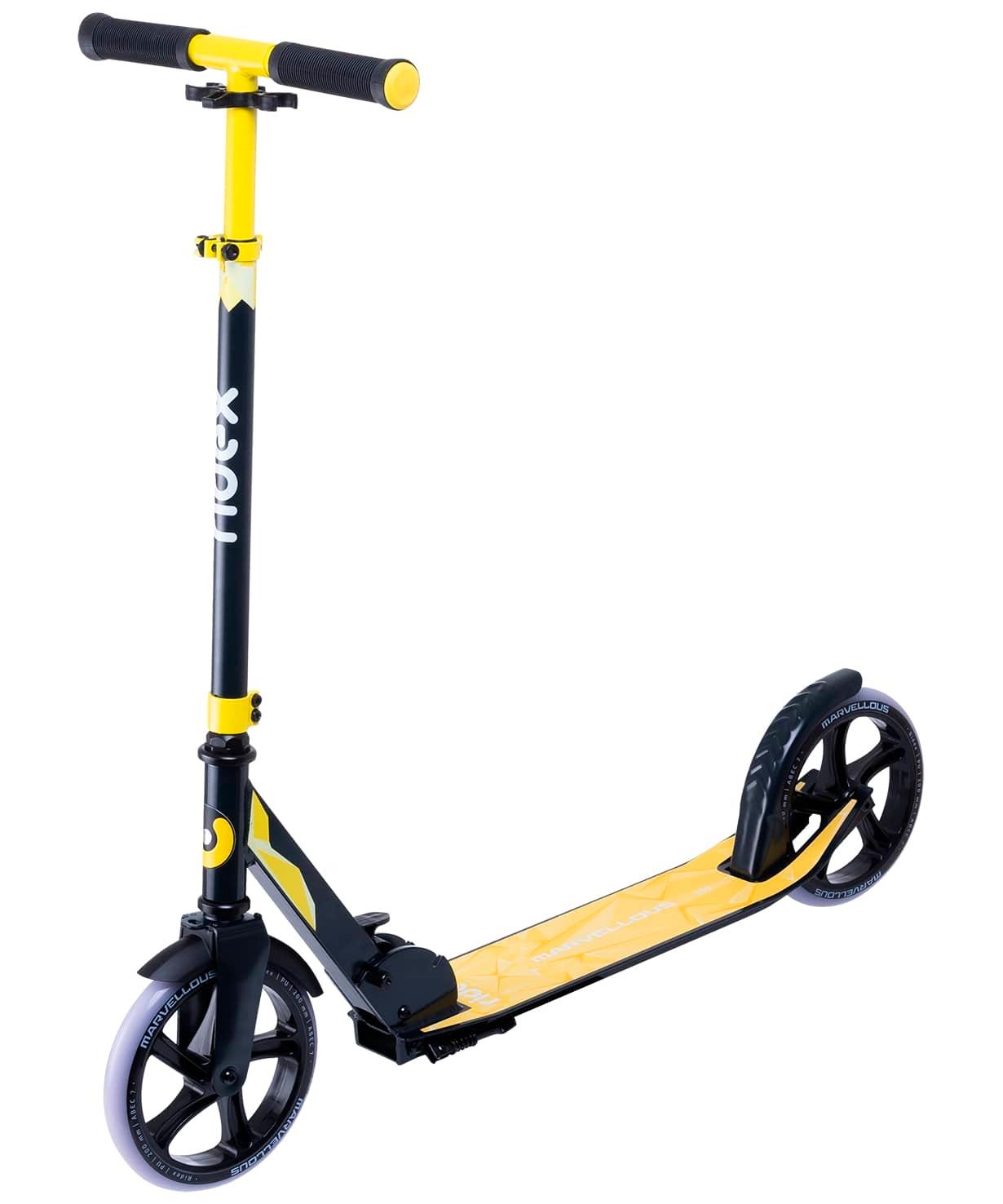 Самокат 2-колесный Marvellous 200 мм, черный/желтый