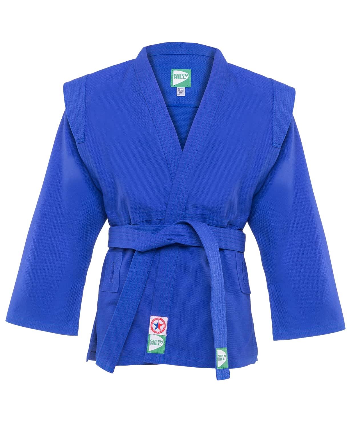 Куртка для самбо JS-302, синяя, р.6/190