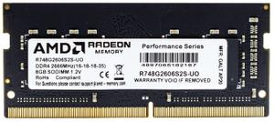 Оперативная память AMD Radeon R7 Performance Series R748G2606S2S-UO 8 Гб DDR4