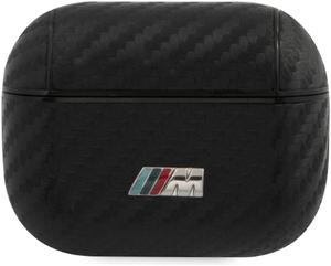 Чехол BMW для Airpods Pro M-collection PU carbon effect with metal logo Black