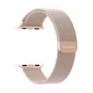 Ремешок Deppa Band Mesh для Apple Watch 42/44mm (Rose-Gold)