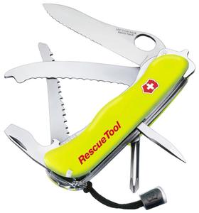 Нож перочинный Victorinox RescueTool One Hand (0.8623.MWN) 111мм 12функций салатовый карт.коробка