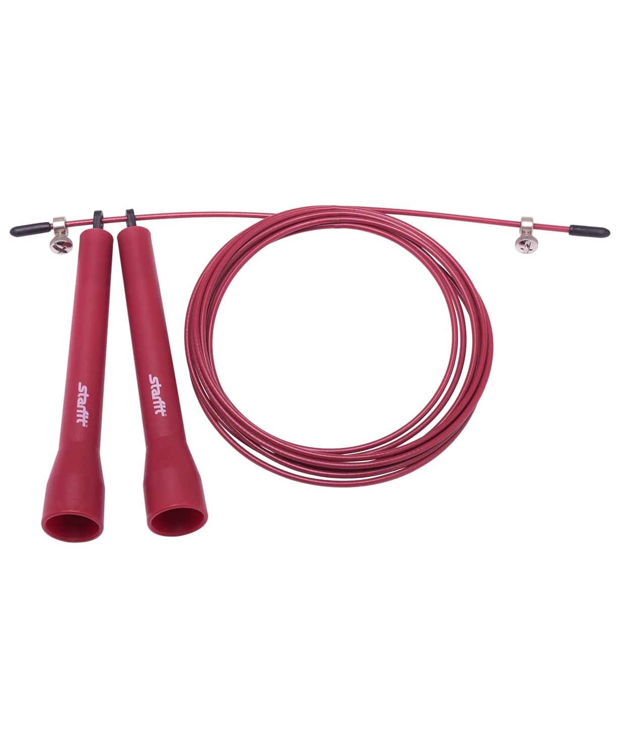 Скакалка STARFIT RP-202 ПВХ скоростная, бордовый, 3,1м 1/50
