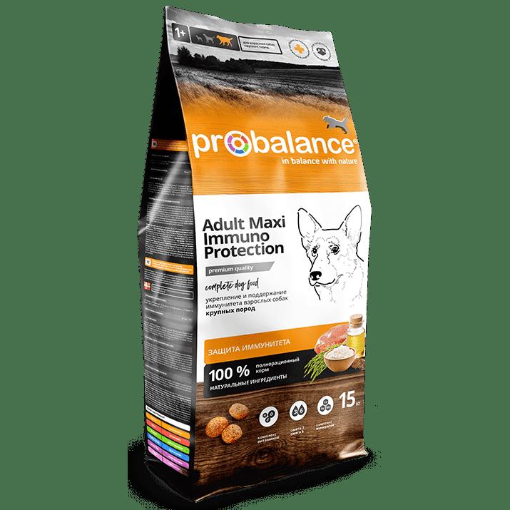 """Сухой корм для собак ProBalance """"Immuno Protection"""" для крупных пород 15 кг."""