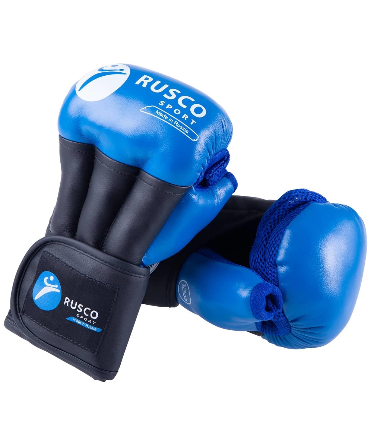Перчатки для рукопашного боя PRO, к/з, синий