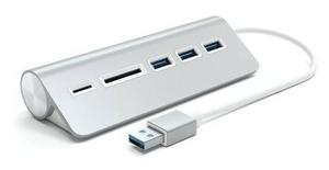 USB хаб Satechi Aluminum USB 3.0 Hub & Card Reader