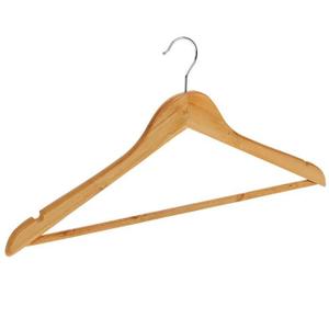 Вешалка-плечики для одежды с перекладиной, размер 46-48, цвет светлое дерево