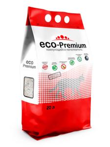 """Наполнитель комкующийся гигиенический """"Eco - Premium"""" 20 л."""