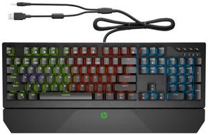 Клавиатура проводная HP Gaming Keyboard 800 черный