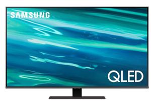 "Телевизор Samsung QE50Q80AAUXRU 50"" (125 см) серый"