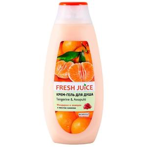 """Крем-гель для душа """"Tangerine & Awapuhi"""" (мандарин и авапухи) 33% увлажняющего молочка 400мл Fresh Juice"""