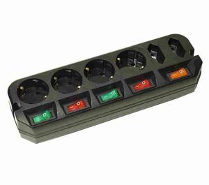 Сетевой удлинитель Most A16 5м (6 розеток) черный (пакет ПЭ)
