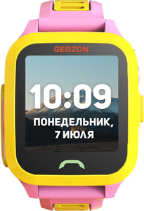 Детские смарт-часы GEOZON Active/pink, ограниченная гарантия