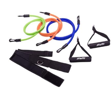 Комплект съемных эспандеров STARFIT ES-606 с ручками, расширенный 1/20