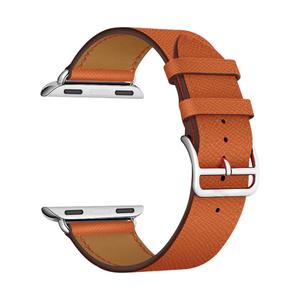 Кожаный ремешок для Apple Watch 42/44 mm LYAMBDA MINTAKA LWA-02-44-OR Orange