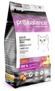 """Сухой корм для кошек ProBalance  """"Gourmet Diet"""" с говядиной и ягнёнком 1.8 кг"""
