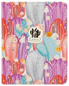 "Дневник 1-11 кл. 48л. (твердый) ArtSpace ""Silk pattern. Cactus, purple"", ткань, ляссе, тиснение"