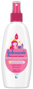 """Спрей для волос """"Блестящие локоны"""" 200мл Johnson's baby"""