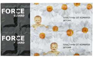 Пластины от комаров для детей 10шт FORCE