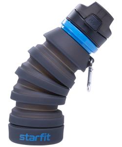 Бутылка для воды FB-100, с карабином, складная, серая