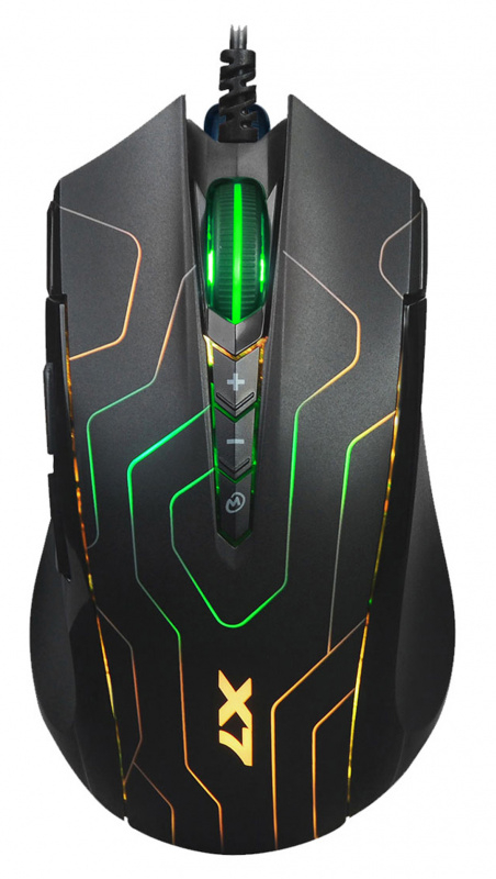 Мышь проводная A4Tech X89 Maze черный