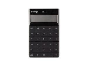 """Калькулятор настольный Berlingo """"PowerTX"""", 12 разр., двойное питание, 165*105*13мм, антрацит"""