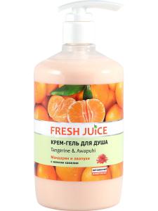 """Крем-гель для душа """"Tangerine & Awapuhi"""" (мандарин и авапухи) 33% увлажняющего молочка 750мл Fresh Juice"""