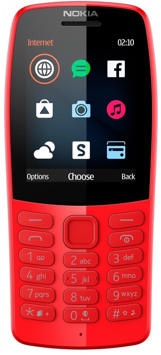 Сотовый телефон Nokia 210 DS красный