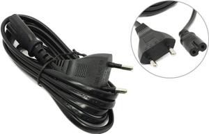 Кабель для аудио-видео техники IEC-320-C7--розетка 220V, 2-pin, 1.8м , черный